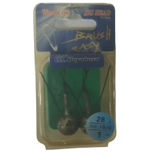 Крючок анти джиг HAYABUSA Brush Easy FF 150B N 5/0-28 (2 шт)