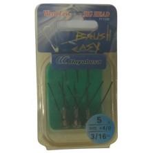 Крючок анти джиг HAYABUSA Brush Easy FF 150B N 4/0-5 (3шт)